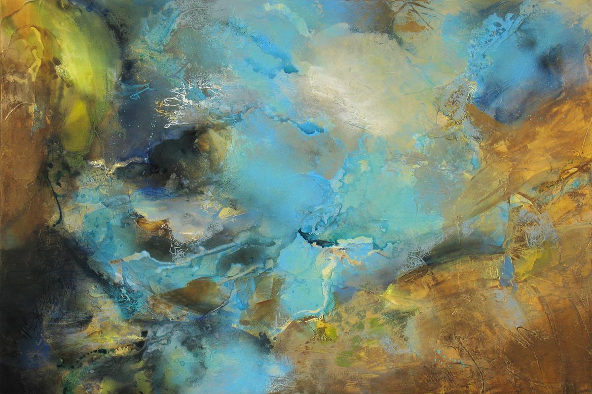 """Culmination"" 48 x 72 in. — oil & mixed media"