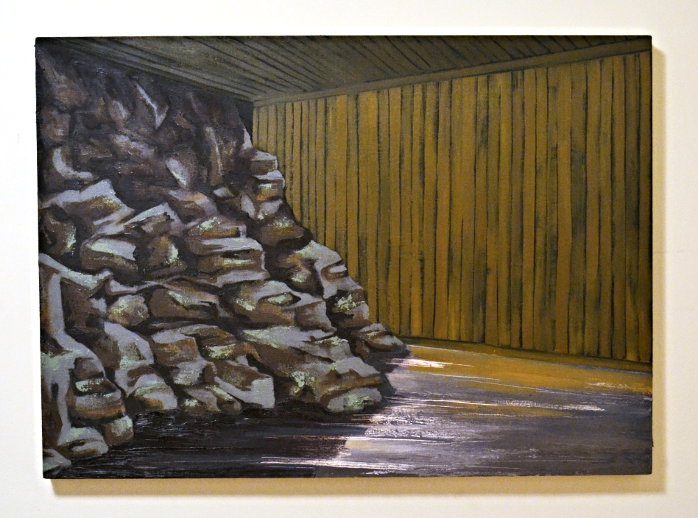 """Rock Face: PVA Size with Pigment 