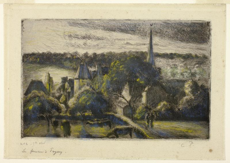 Camille Pissarro | Church and Farm Éragny | 1895