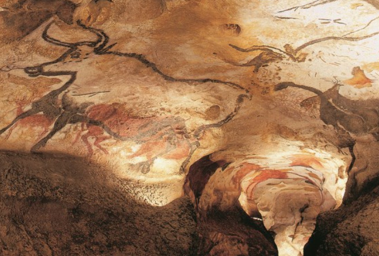 Lascaux Cave  murals in the Southwest of France containing natural earth pigments – estimated creation date 17,000 B.C.