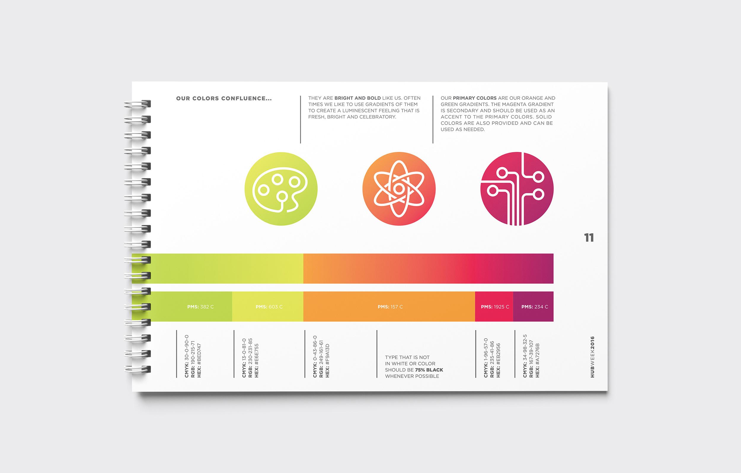 HUBweek Brand Guidelines Color