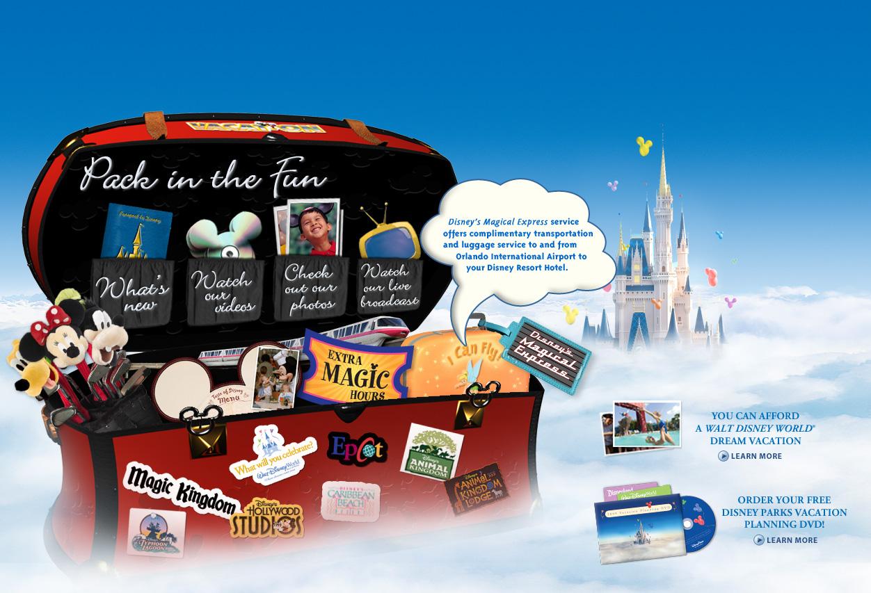 Disney Vacations Microsite