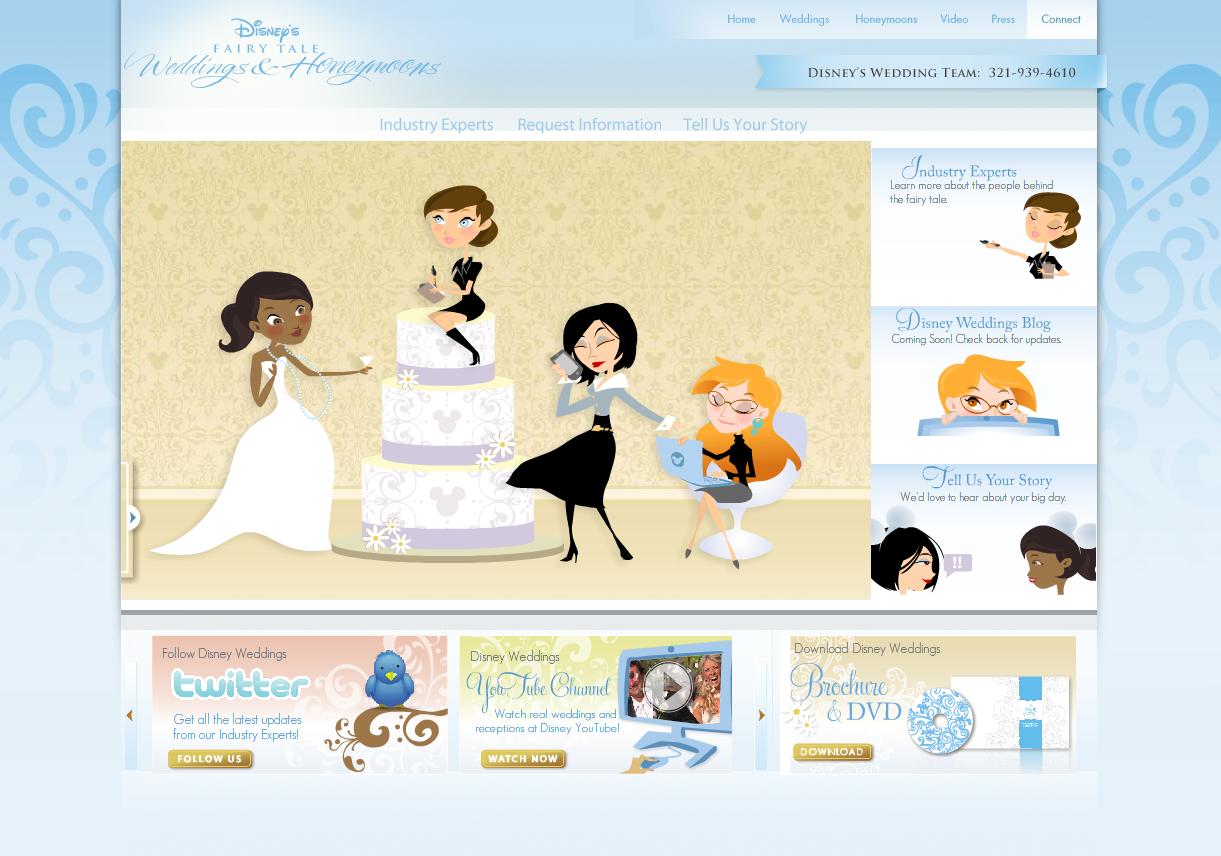 Disney Weddings & Honeymoons Website