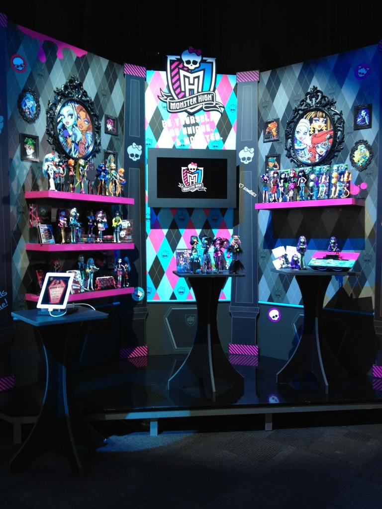 Monster High New York Toy Fair Display