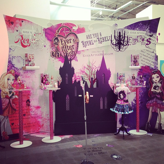 Ever After High Launch Party Display