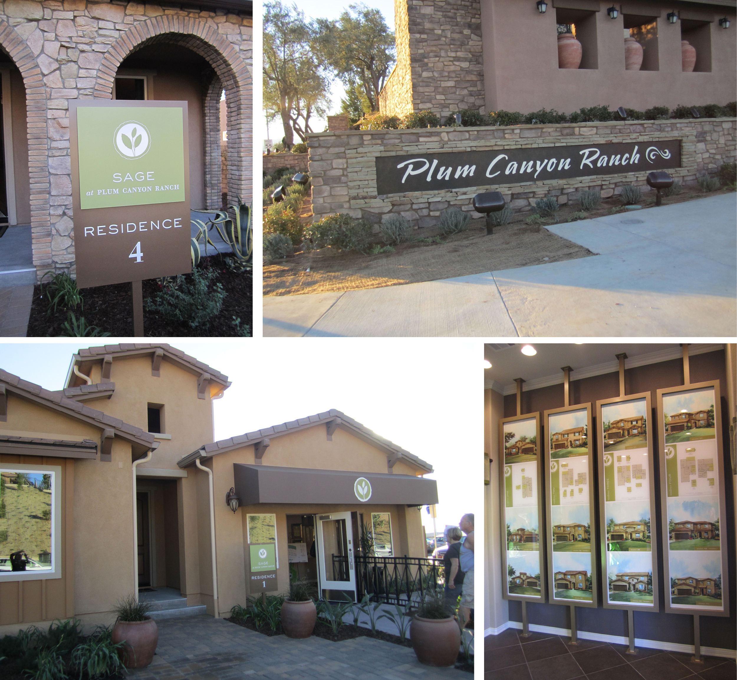 Plum Canyon Ranch Neighborhood and Gallery Signage