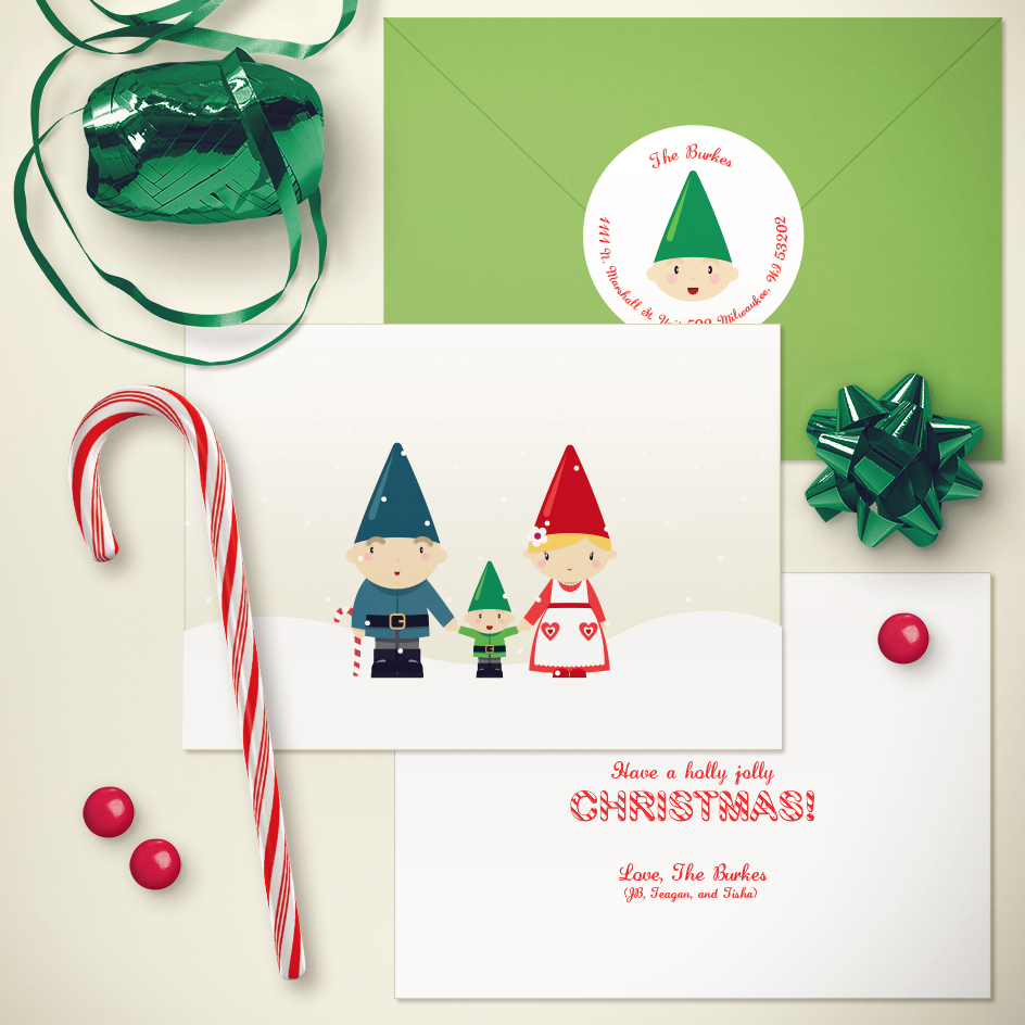 Gnome Family Greeting Card
