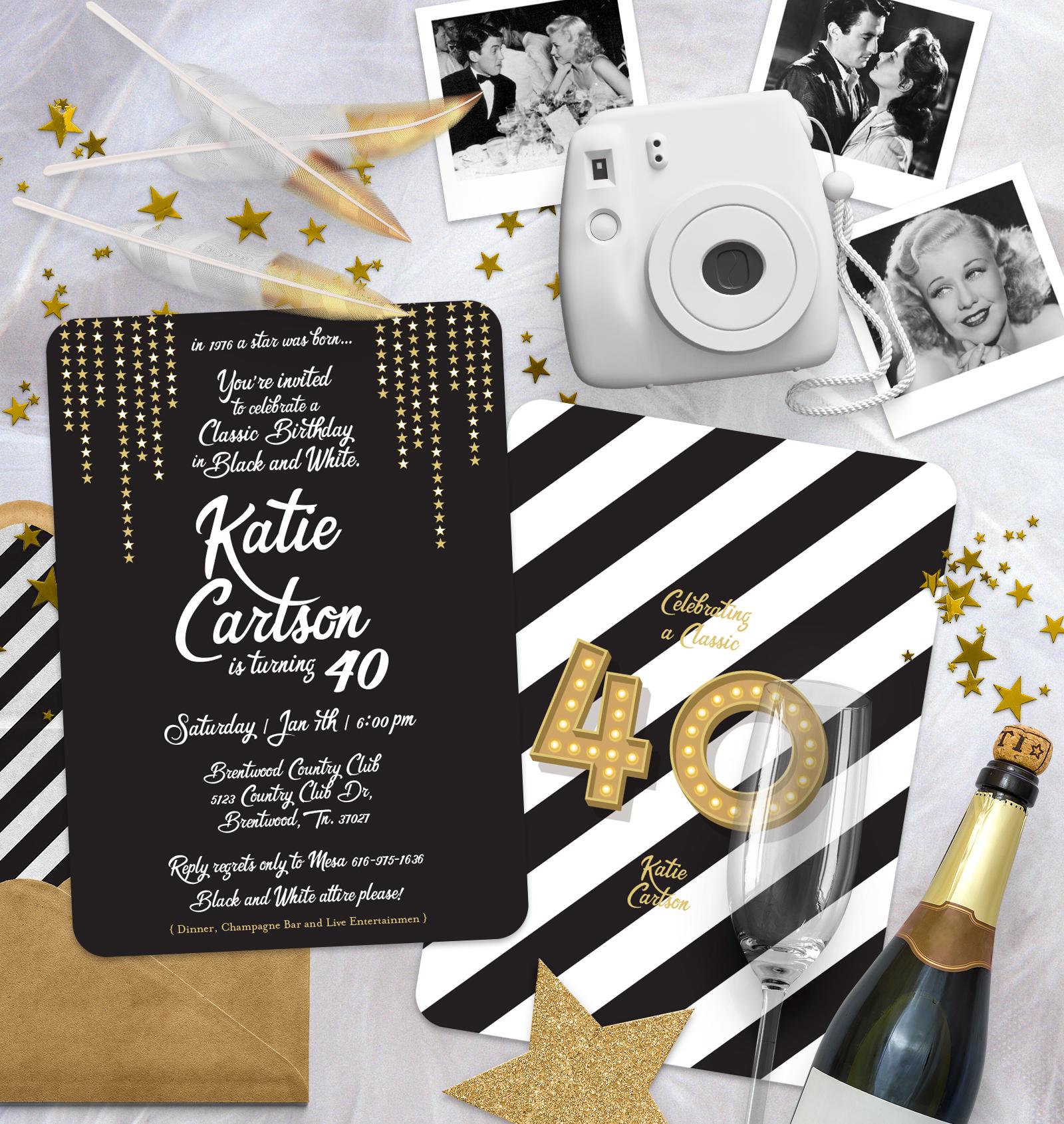 Katie's 40th Black and White Birthday Bash