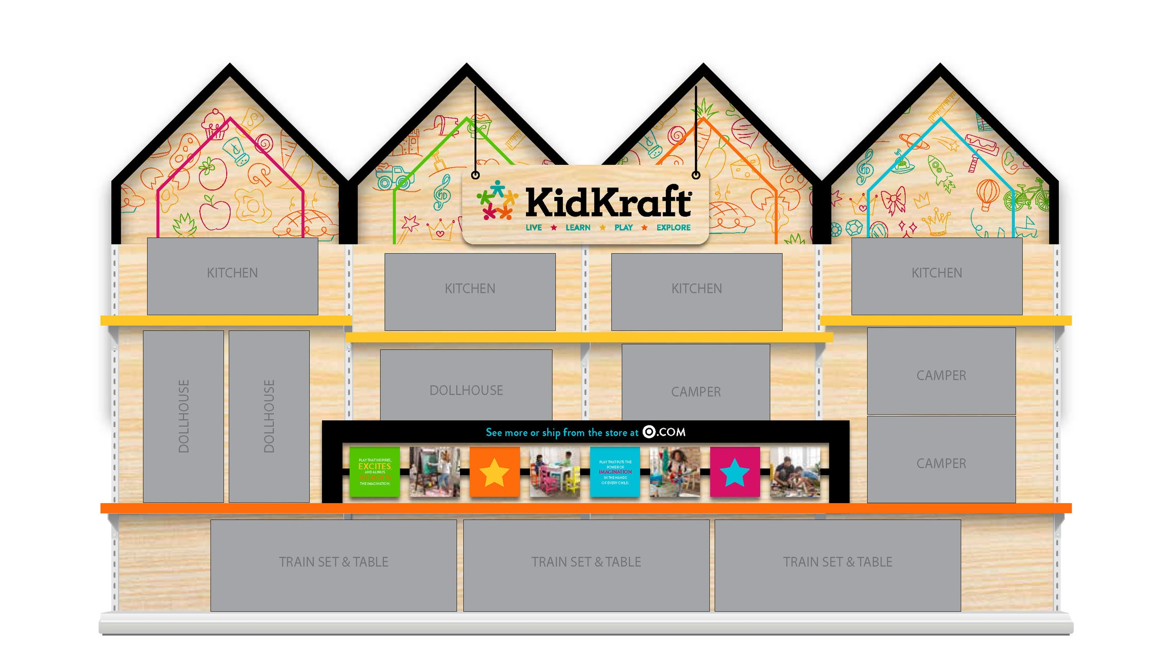 KidKraft Toy Display Concept for Target