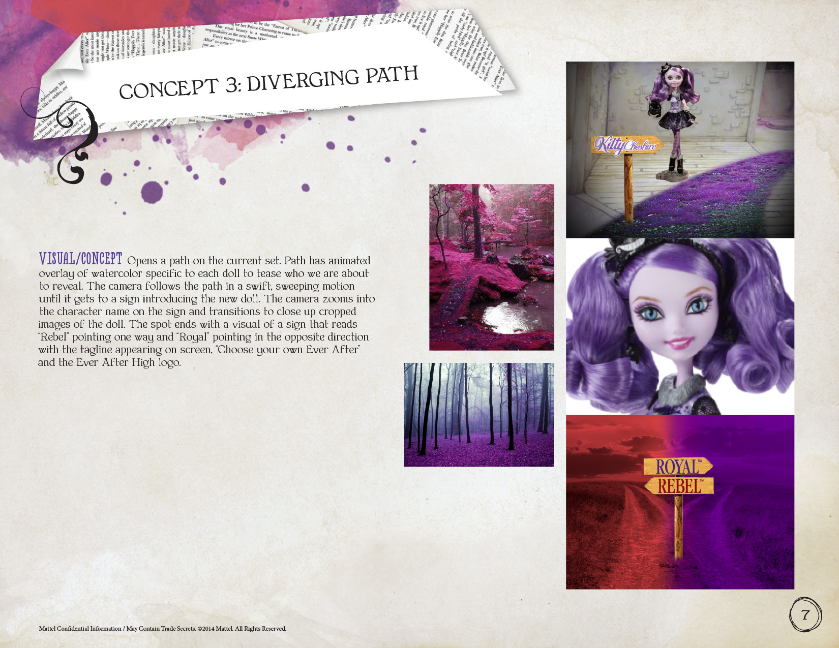 Mattel, Ever After High Doll Commercial Concept
