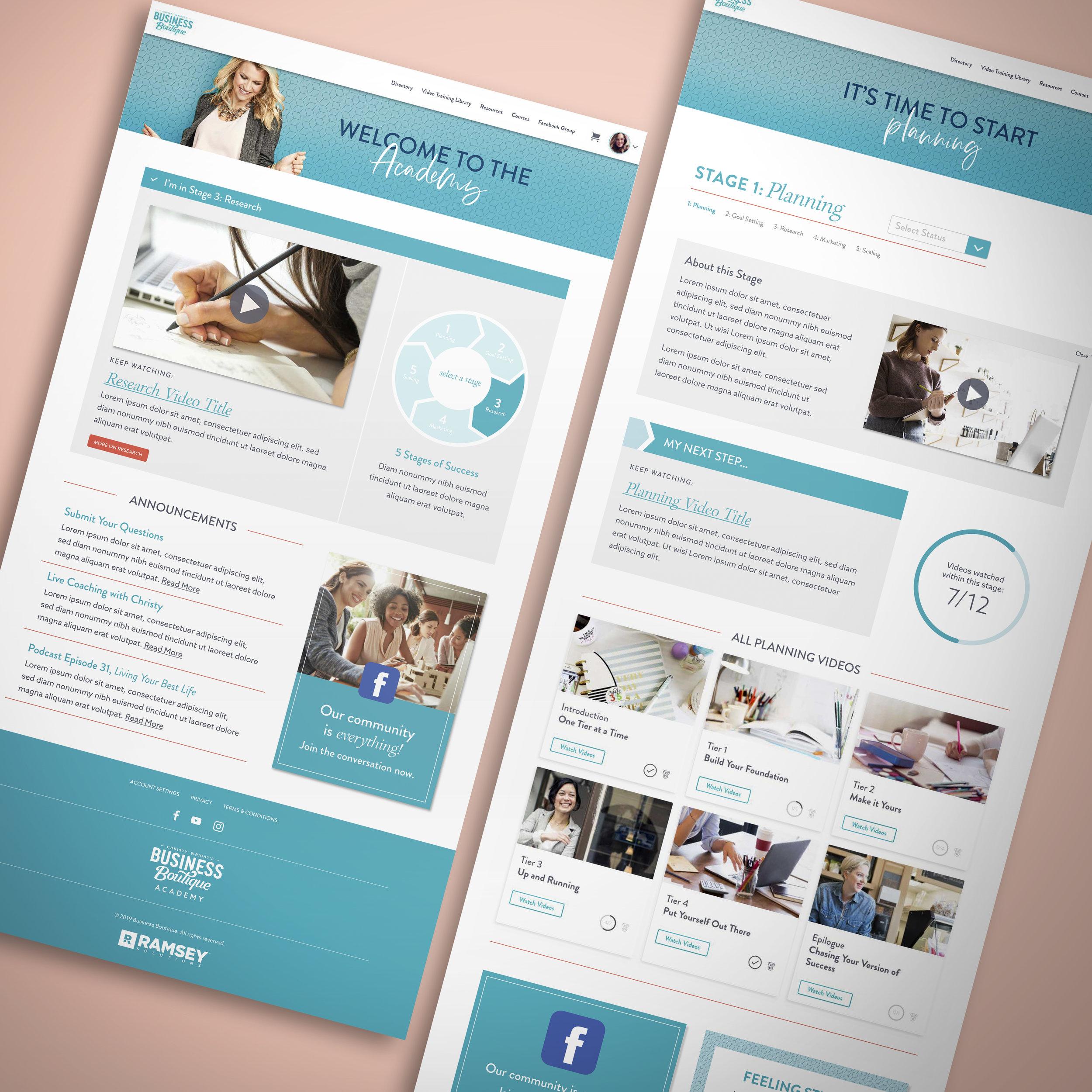 Business Boutique Academy Website