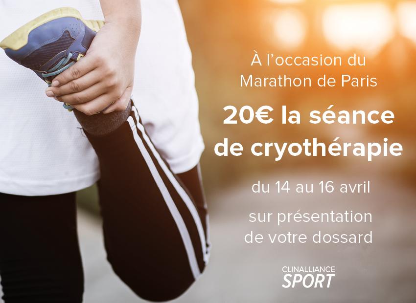 marathon-paris-réservation-cryothérapie