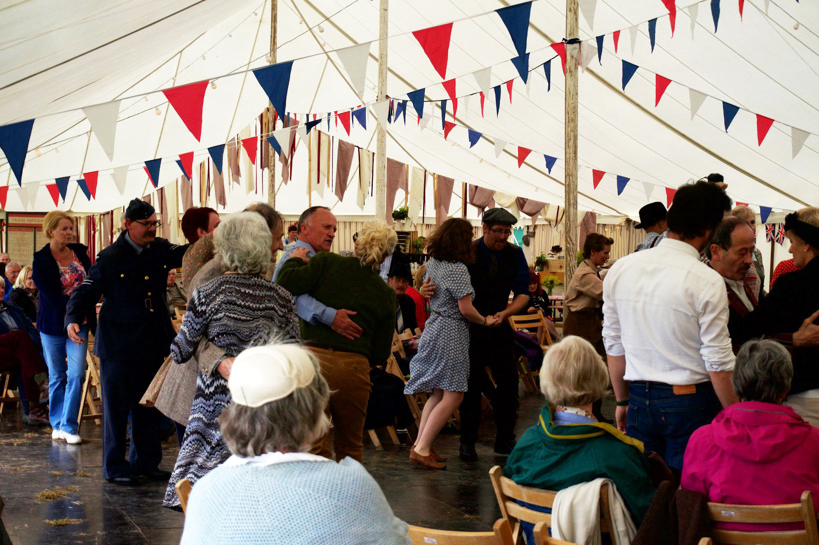 Lindy Hop lessons in the Victory Marquee