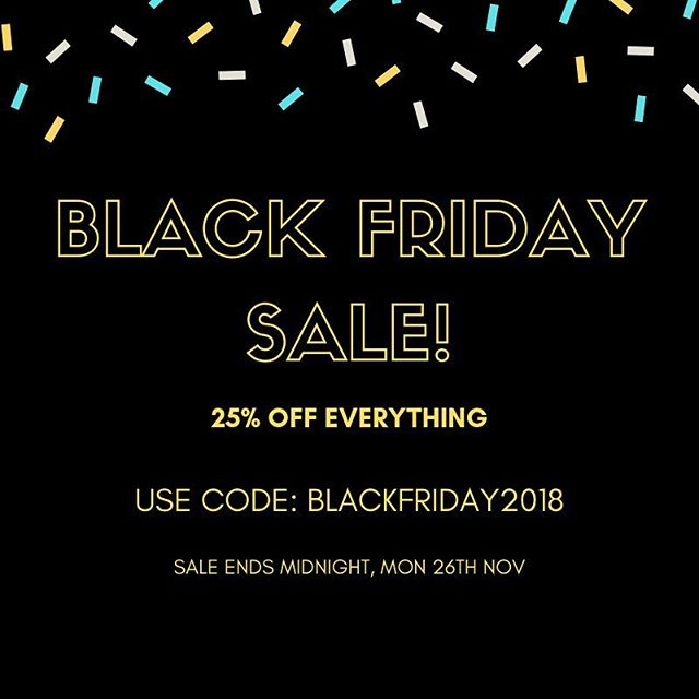 Our Black Friday sale has landed! 25% off EVERYTHING this week only, with free UK delivery on all accessories and beard grooming products 🙌🏼 #blackfriday . . . . #blackfriday2018 #mensaccessories #bowtie #bowties #pocketsquare #sale