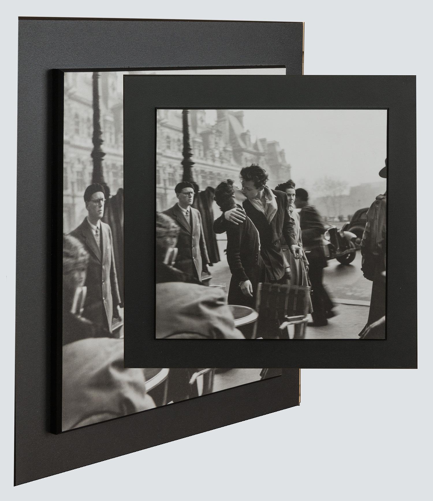 stack mount style of plaque mount framing-1940]era New York street scene