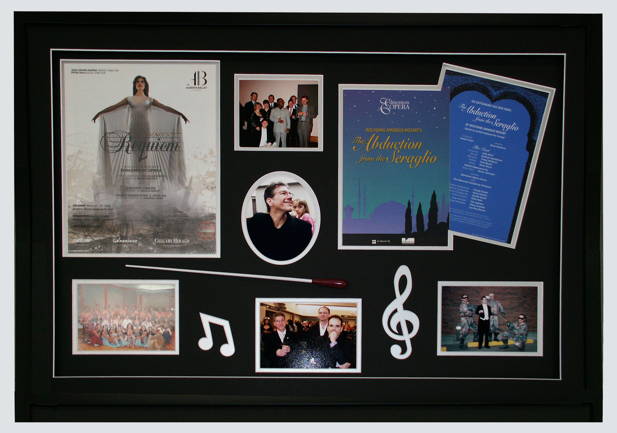 Memories of a life in music custom framed and matted.