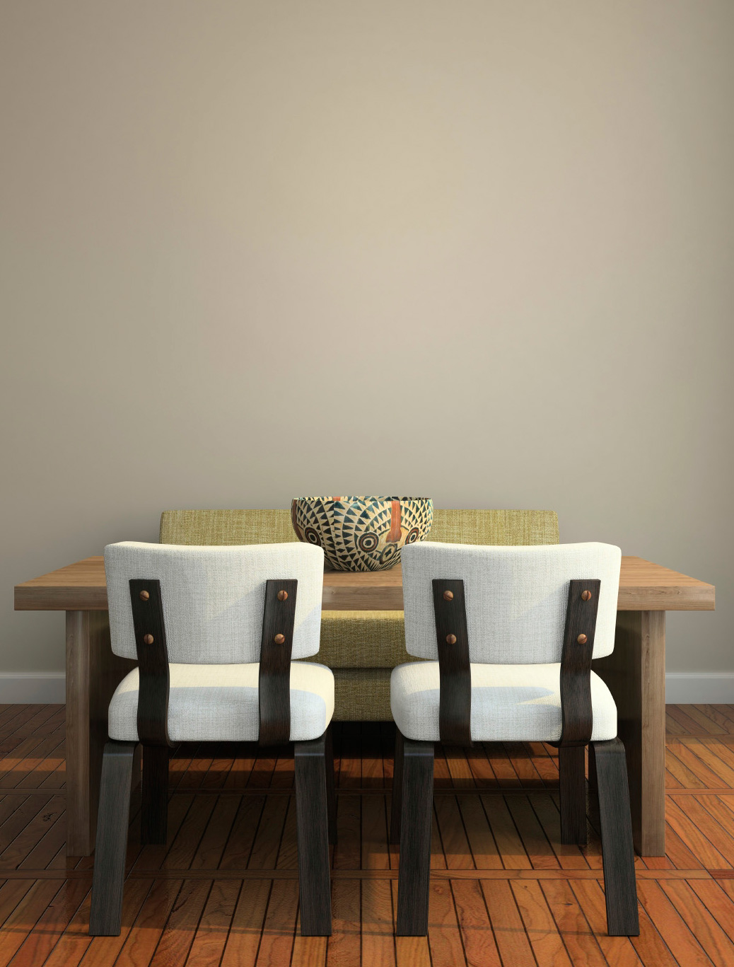 dining room with no art on walls
