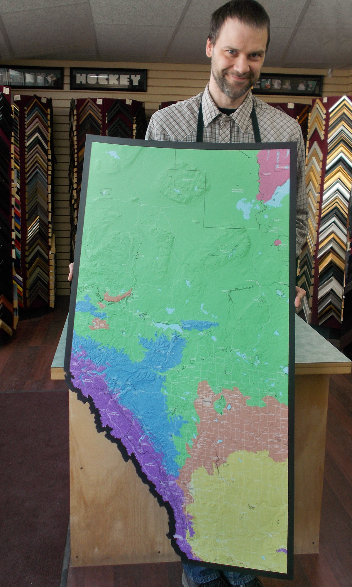 custom shaped plaque mounted maps