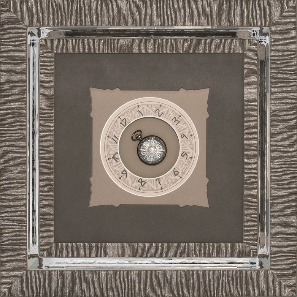clock framed in a frame within a frame