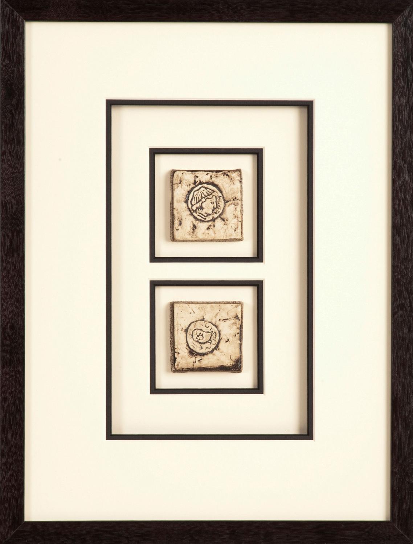 framed hand made tiles