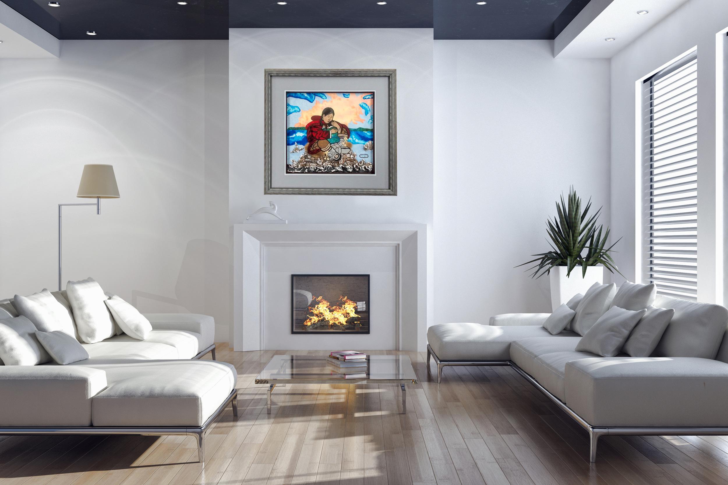 Framed art enhances your home