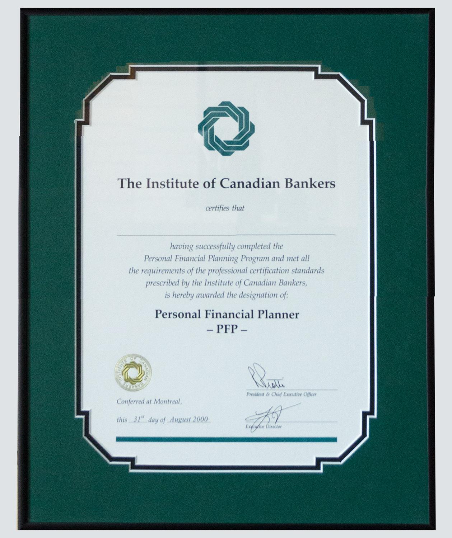 framed corporate certificate