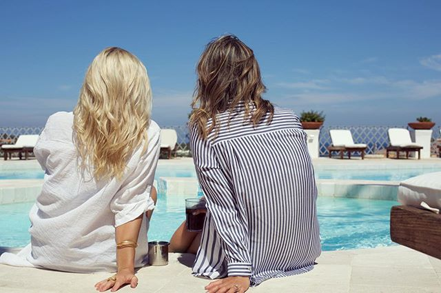 24 years of quality banter and a whole lot of love right there poolside 🦀🦀 Cheers 🥂 to mates who roam the world but fill our friendship boots with so much love X. @roamingcreative  #kinship #roamingspirit #buddies  #sardinia #mediterranean #portocervo #neverenoughtime #whorunstheworldgirls #ideasideasideas #love #wanderlust #adulting #roam