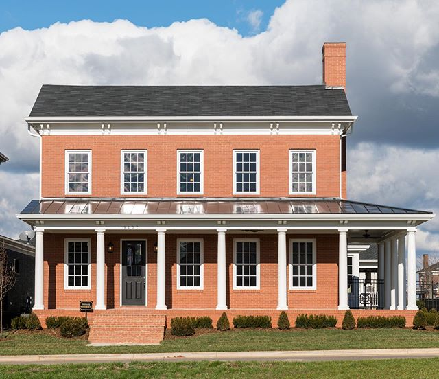 Our Sulgrave plan featuring Italianate architecture and wrap-around porch.