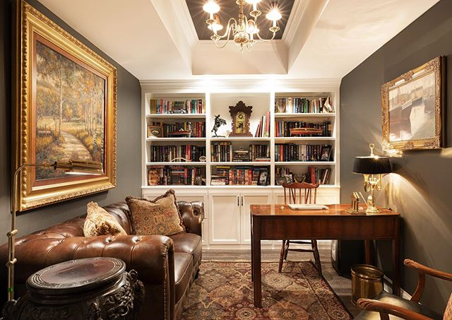 Handsome and regal study.  Built by @ramagecompany