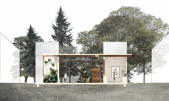 2017 HERE+NOW Competition: 3rd Place Winner | Project: Common Ground: Collective Living in Seattle, WA Student: Ariel Scholten, University of Washington Faculty Sponsors: Elizabeth Golden & Richard Mohler, University of Washington