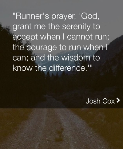 Words to live by as a runner