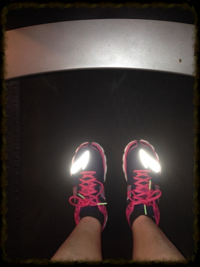 Getting my treadmill groove on!