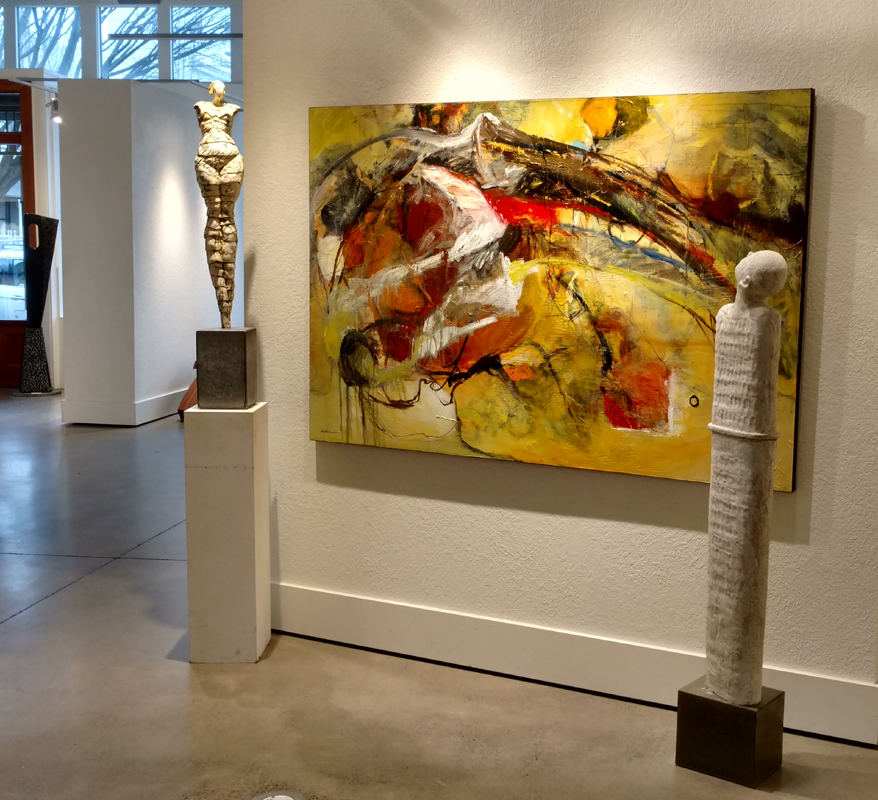 """""""Introspection"""" as displayed at Gallery 903 in Portland, OR."""