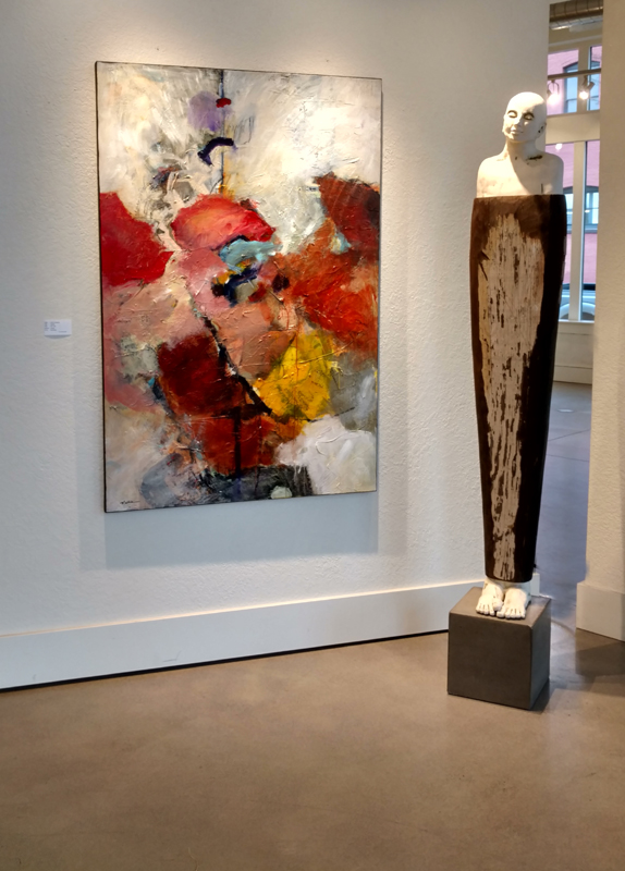 """""""Compelled,"""" as shown at Gallery 903 in Portland, OR."""