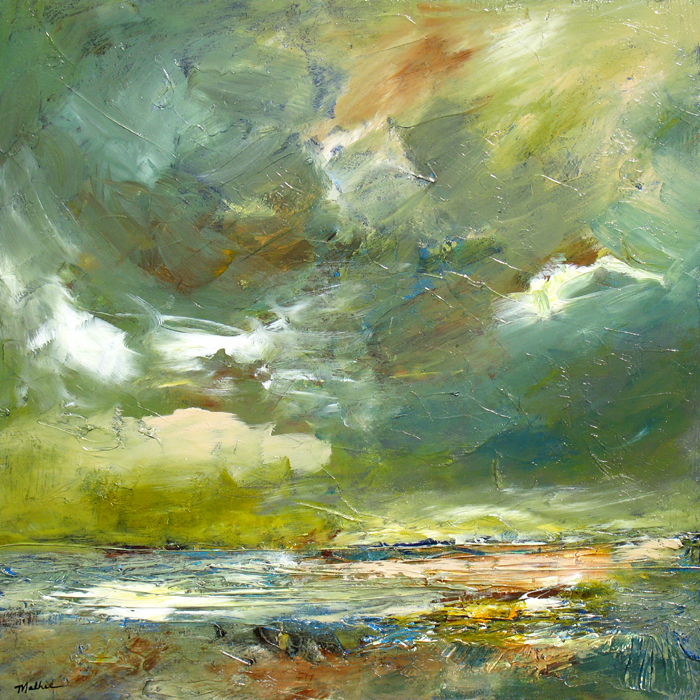"""Sea Sky,"" 30 x 30 inches, *SOLD"