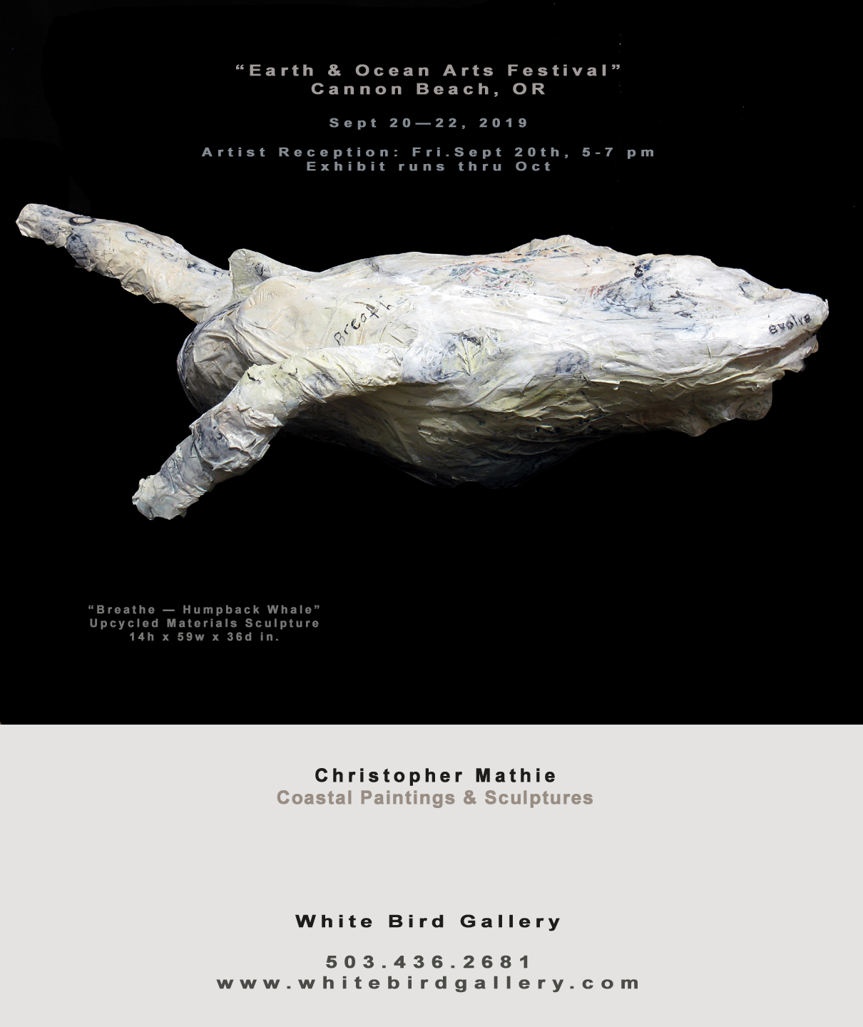I'm excited to debut my new sculptures employing a new medium and technique developed for this show!