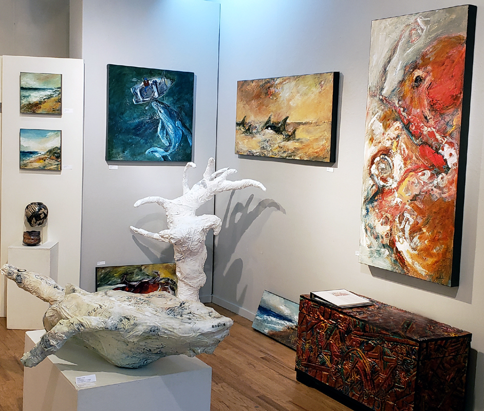 Mathie paintings & sculptures.  Earth & Ocean Exhibition, White Bird Gallery, Cannon Beach, OR. Opens Sept 20 thru Oct 28.