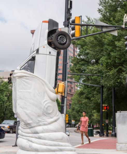 Autoeater Swallows Car & Criticism in Midtown Atlanta