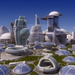 "In this artists rendering, the City of Chicago will look much like this by the time Alarmist is operational. Fortunately by then we'll be able to transport beer directly to customers via the ""Ionic-Suds-O-Particleizer 3000""."
