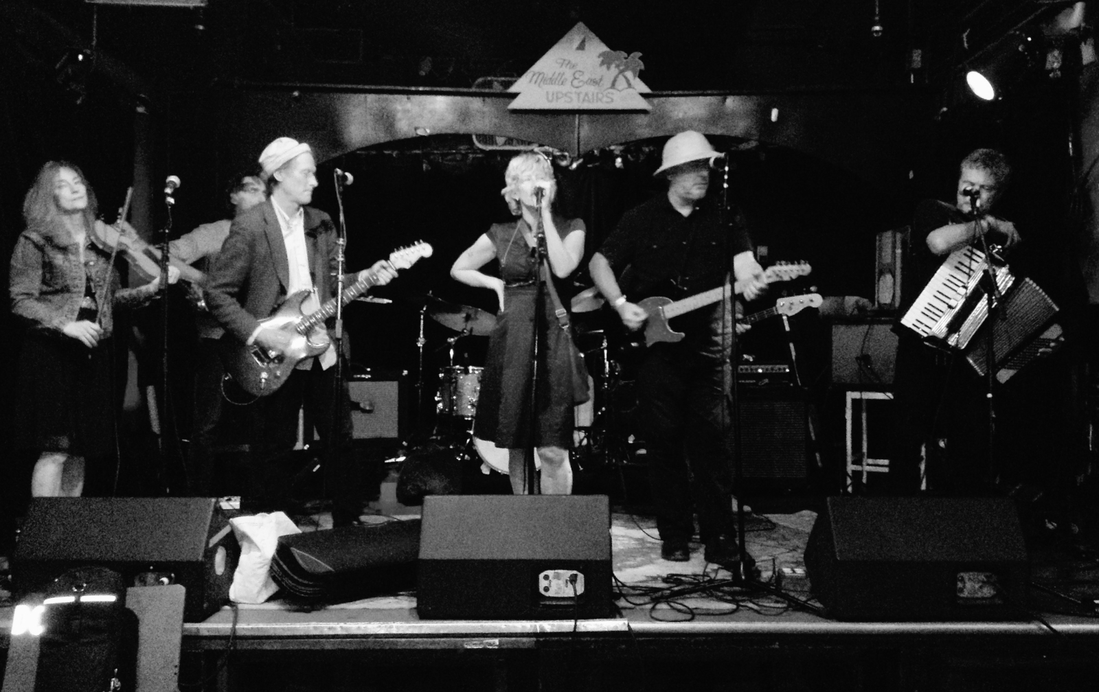The Mekons at The Middle East Upstairs, Cambridge, MA, July 25, 2015. Photo by Johnny Dowd.