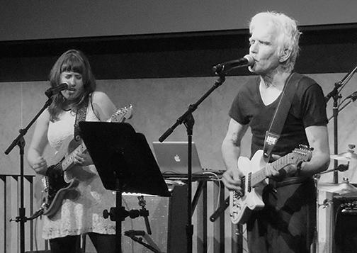 Anna Coogan and Johnny Dowd at the David Rubenstein Atrium at Lincoln Center, March 10, 2016. Photo by Jennifer Edmondson.