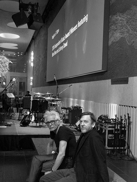 Johnny Dowd and Mike Edmondson at the David Rubenstein Atrium at Lincoln Center, March 10, 2016. Photo by Jennifer Edmondson.