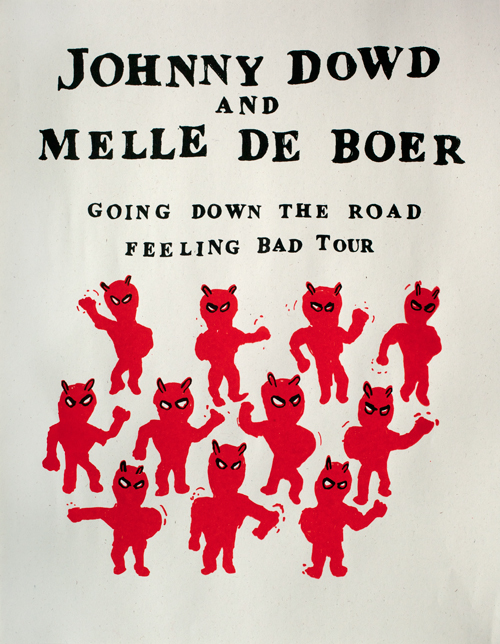 Hand-printed Euro tour poster now available on Store page. Design by Melle de Boer.