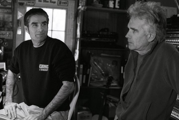 Jim White and Johnny Dowd, 2006. Photo by Kat Dalton.