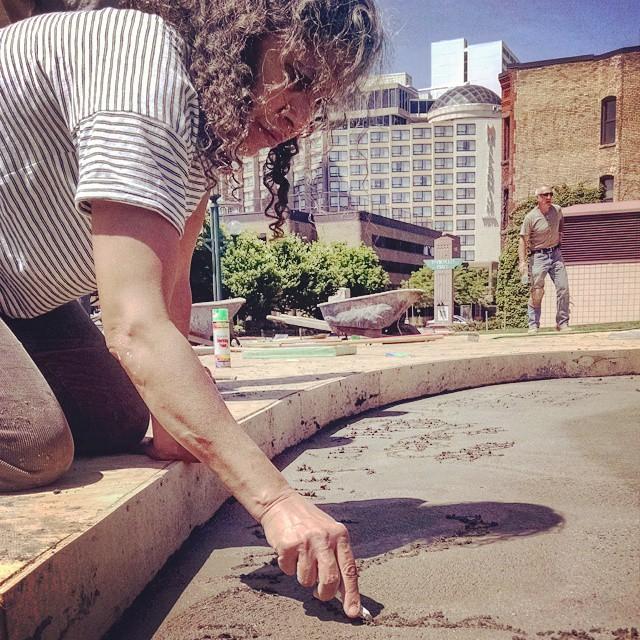 I always wanted to write into fresh concrete... Thanks #mini_polis!