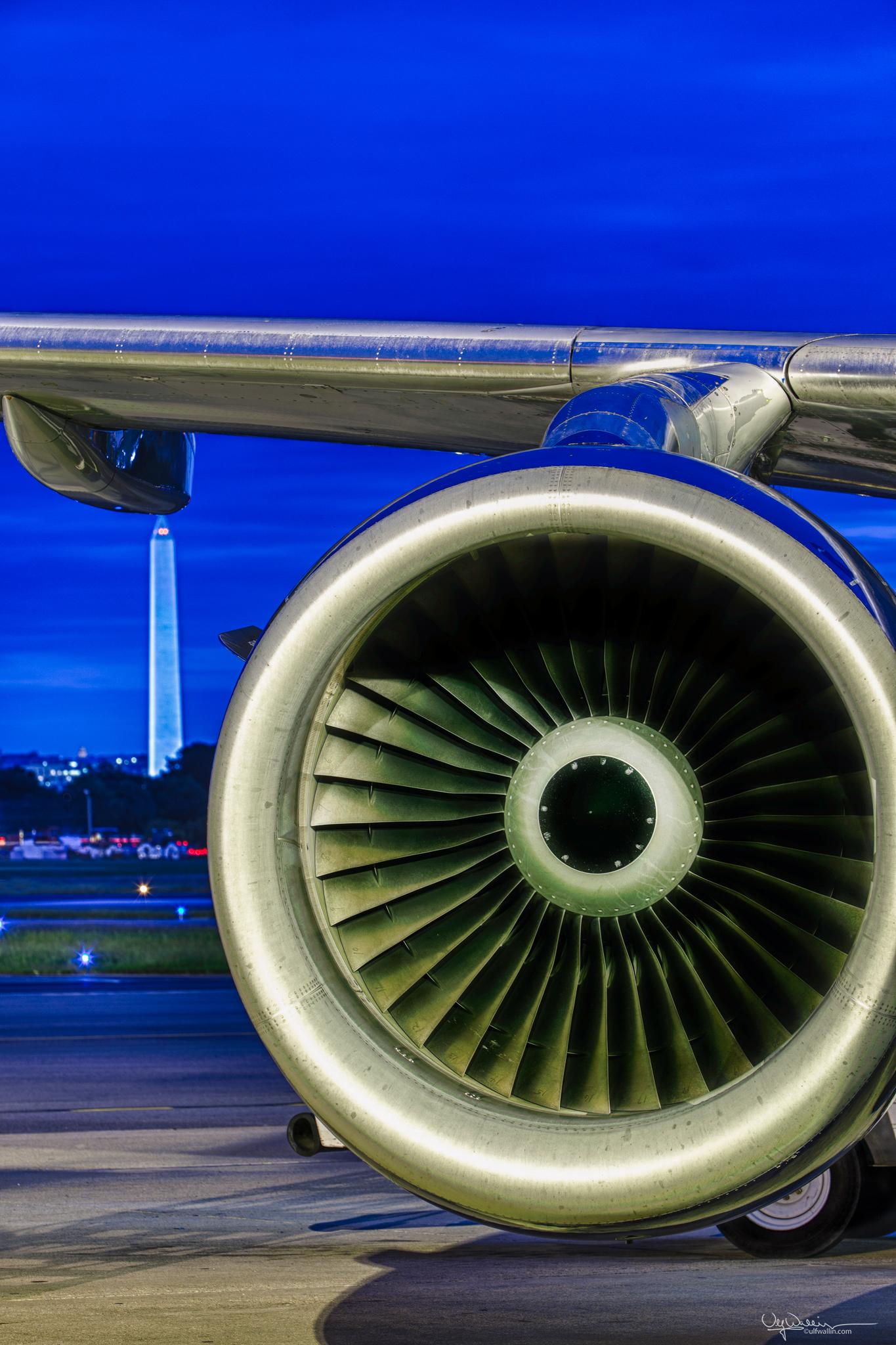 Jet Engine & Washington Monument