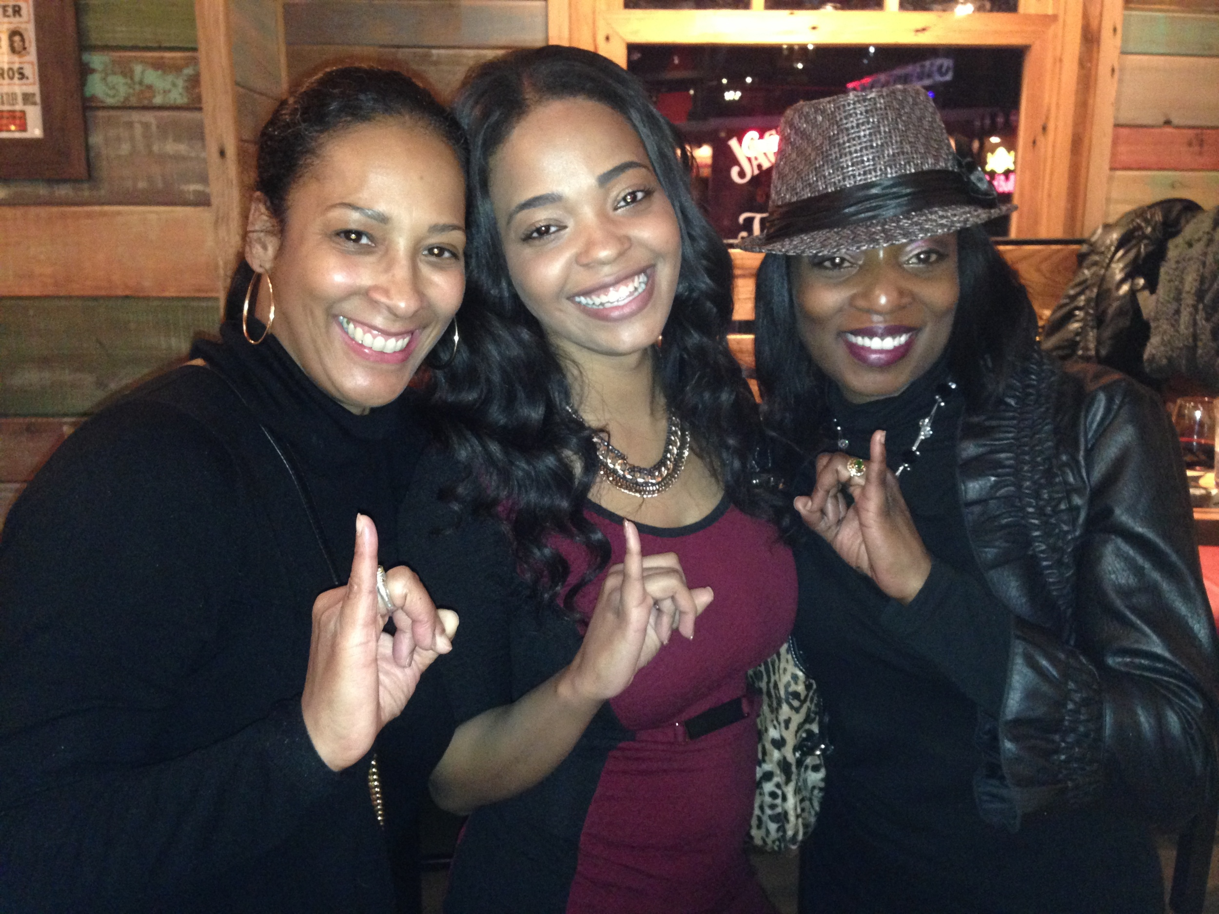 Felice with her sorors, including previous S+E Veteran Lyah LeFlore