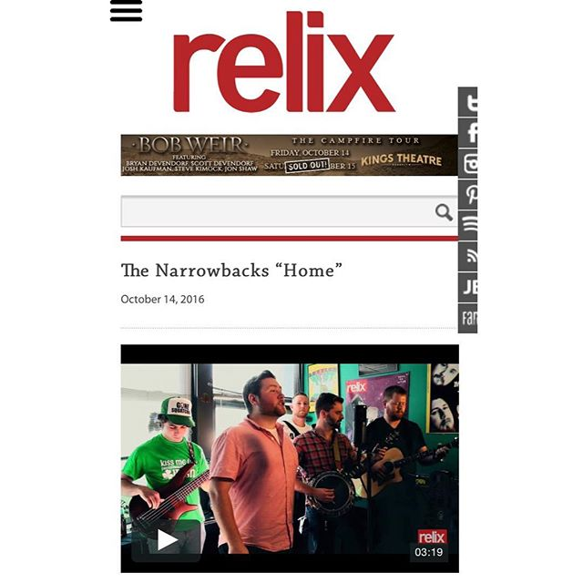 Check out our session at Relix Magazine a few weeks ago! We played 'Home' off our new record out this Saturday at Mercury Lounge! @relixmag @mercuryloungeny #relixmagazine #relixmag #thenarrowbacks #narrowbacks #mercurylounge #nyc #livemusic #acoustic #fireitup #irishmusic #folkrock