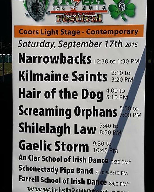 Making our debut at the Irish 2000 festival today at Noon! FIRE IT UP! #musicfestival #irishmusic #livemusic #ballstonspa #saratoga #saratogafairgrounds #festival #september #fall #fireitup