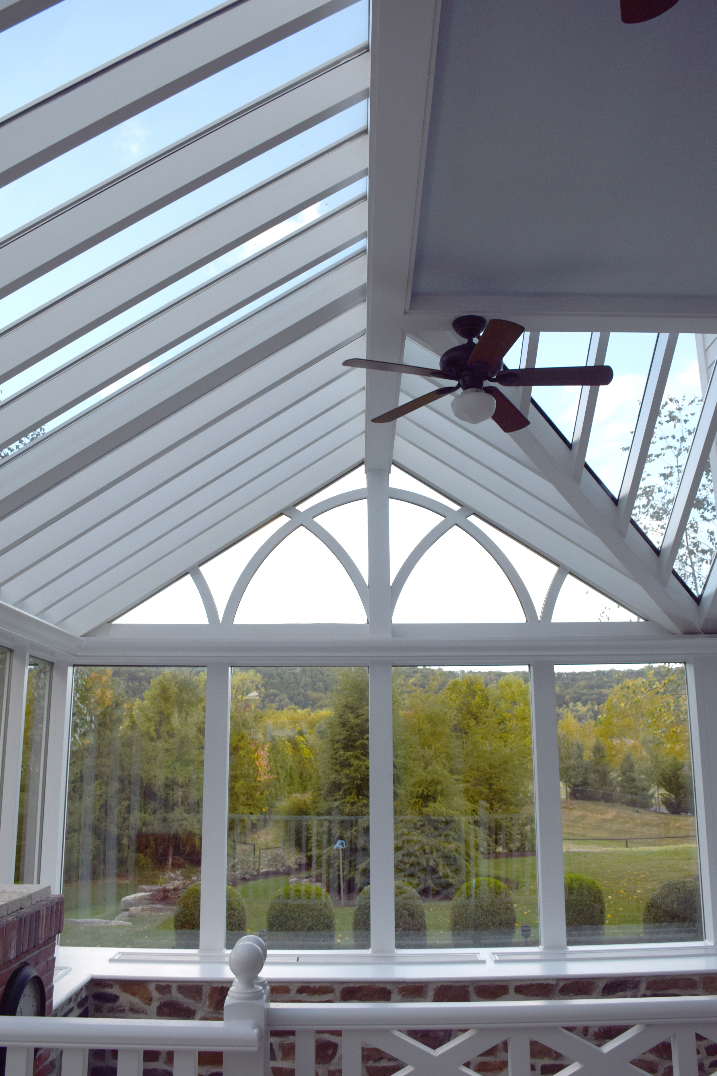 Gable Sunroom with Gothic Arch